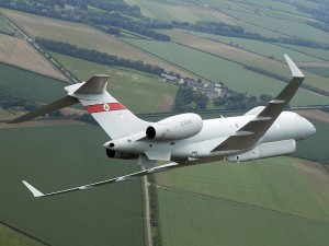 Raytheon Sentinel R1, bazat pe Bombardier Global Express - Sursa: MoD.uk