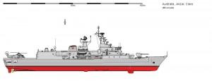 HMAS Perth in configuratia initiala - Sursa: www.shipbucket.com