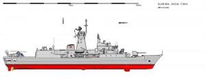 HMAS Perth in configuratia finala - Sursa: www.shipbucket.com