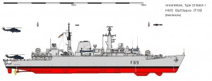 Fregata Type22 Batch1 - Sursa: www.shipbucket.com