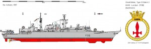 Fregata Type 22 Batch 2 - Sursa: www.shipbucket.com
