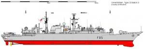 Fregata Type 22 Btach 3 - Sursa: www.shipbucket.com