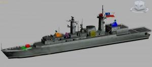 3D modificari ale fregatei Almirante Williams - Sursa: combatace.com