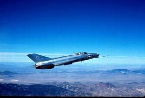 MiG-21 in timpul testelor Have Doughnut - Sursa: area51specialprojects.com