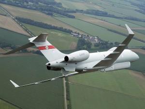 Raytheon Sentinel R1, bazat pe Bombardier Global Express - Sursa: MoD.uk