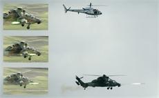TDA RPM lansata de Eurocopter Tiger HAP - Sursa: Thales
