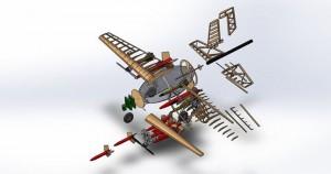 Phoenix Team UAV concept - Sursa: FB/Phoenix Team