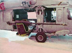 Tunul RAMICS montat pe elicopter - Sursa: militaryphotos.net