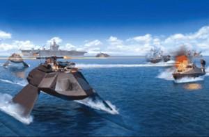 Ghost in actiune - Sursa: maritimepropulsion.com