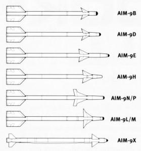 Familia AIM-9 Sidewinder - Sursa: warbird-photos.com