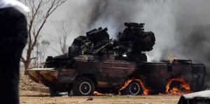 SA-8 lovit in Libia - Sursa: defense-update.com