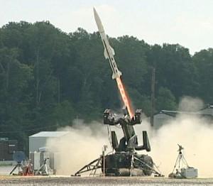 Low Cost Interceptor testat de pe un lansator HAWK - Sursa: ducommun.com