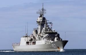 HMAS Perth, CEAFAR in prim-plan - Sursa: naval-technology.com