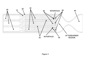 Bi-propellant rocket motor having controlled thermal management - Sursa: Google patents