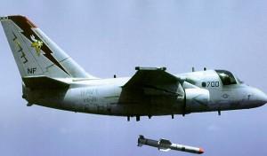 Nu doar ASW, S-3 lansand Harpoon - Sursa: aer.ita.br