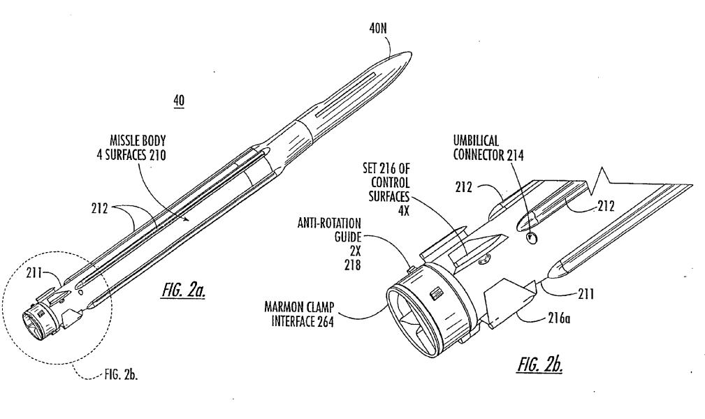 ESSM, arpi de control pliabile - Sursa: Google patents