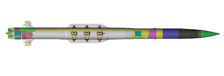 PAC-3 MSE cu aripile de control din coada pliabile - Sursa: Lockheed Martin
