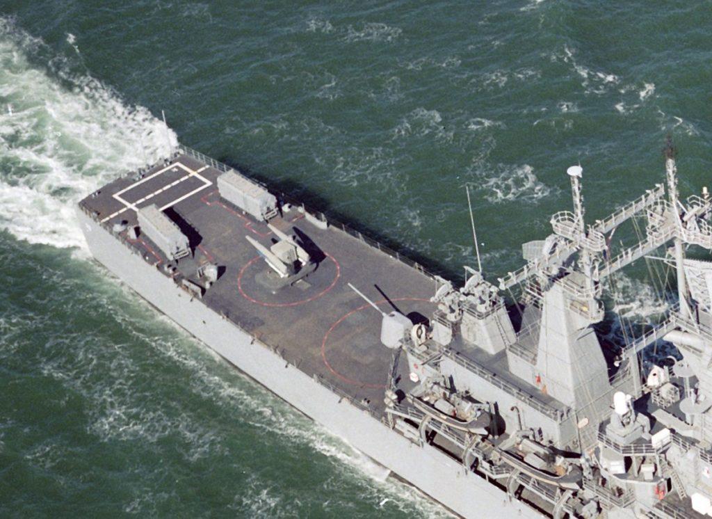 ABL la pupa unui crucisator din clasa Virginia - Sursa: seaforces.org