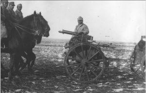 Mitraliera Maxim din dotarea Romaniei - Sursa: worldwar1archive.com