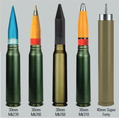 Munitia folosita de MK44 Bushmaster II - Sursa: orbitalatk.com