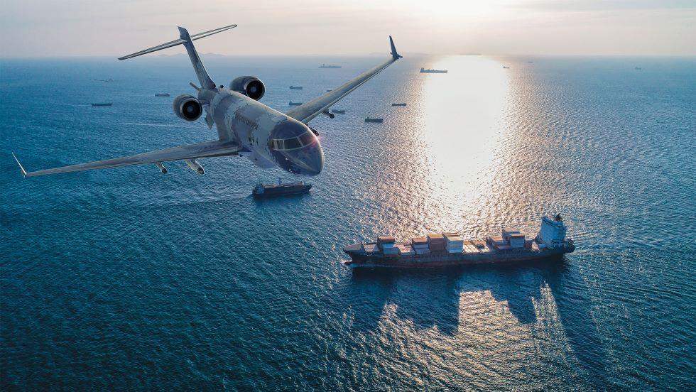 Swordfish pe Global 6000 - Sursa: Saab